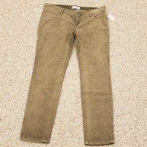NWT! Free People Size 26 Olive Corduroy Pants